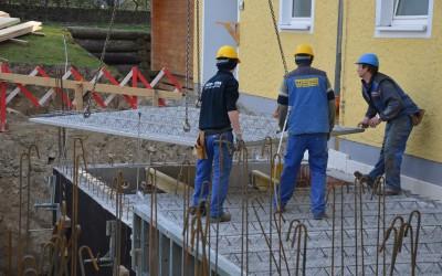 Die Baustelle hat begonnen …